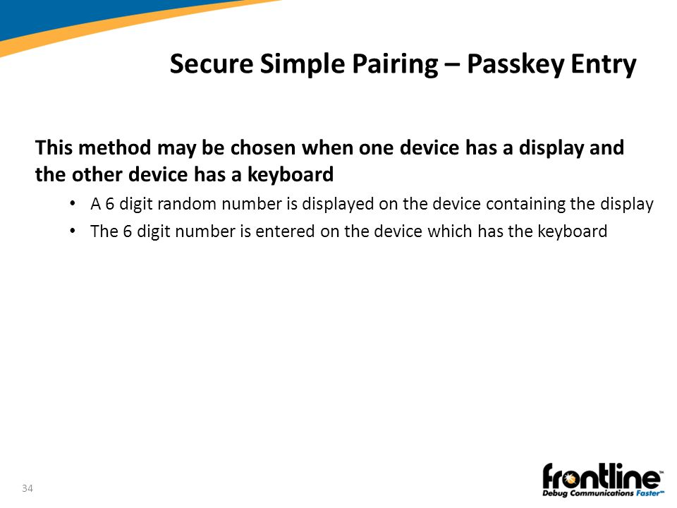 Secure Simple Pairing – Passkey Entry