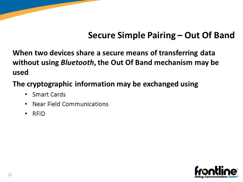 Secure Simple Pairing – Out Of Band