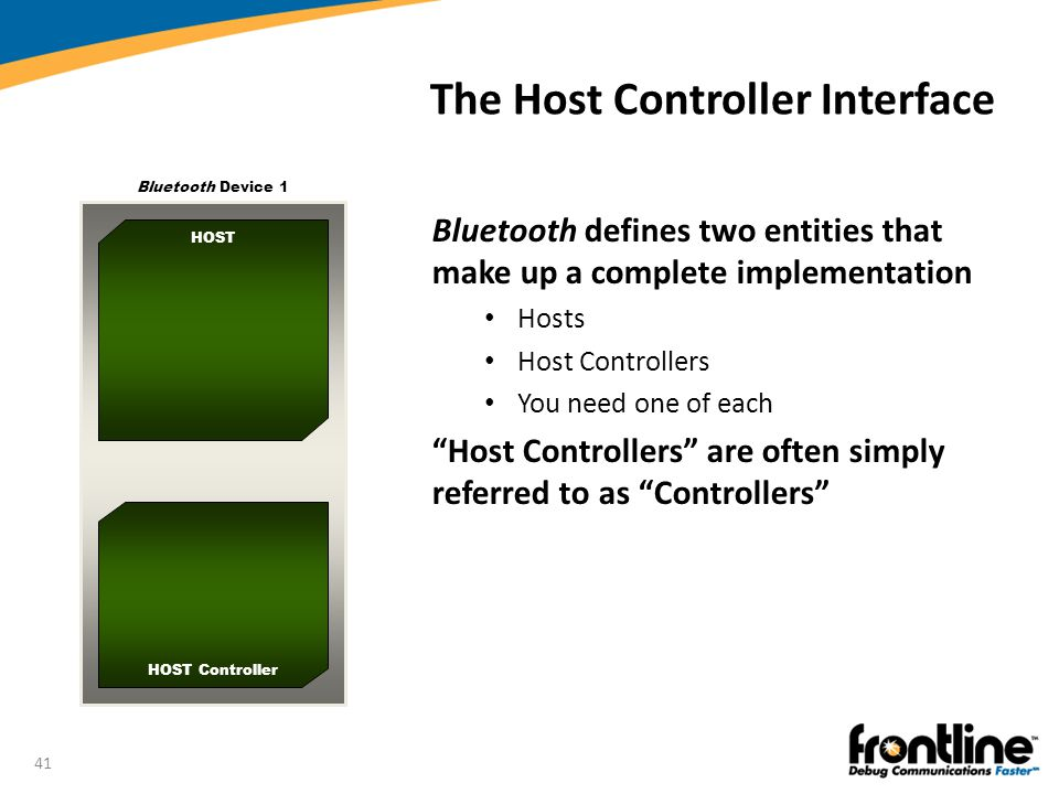 The Host Controller Interface