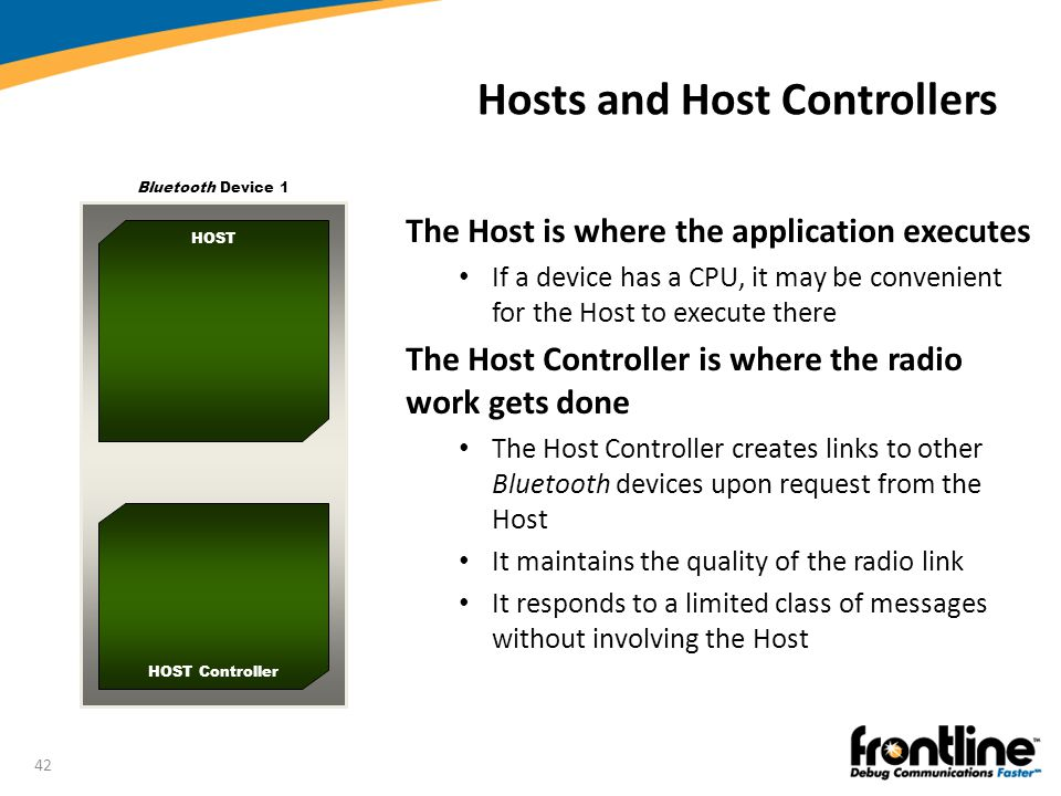 Hosts and Host Controllers