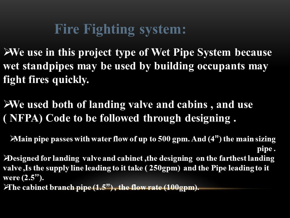 Fire Fighting system: