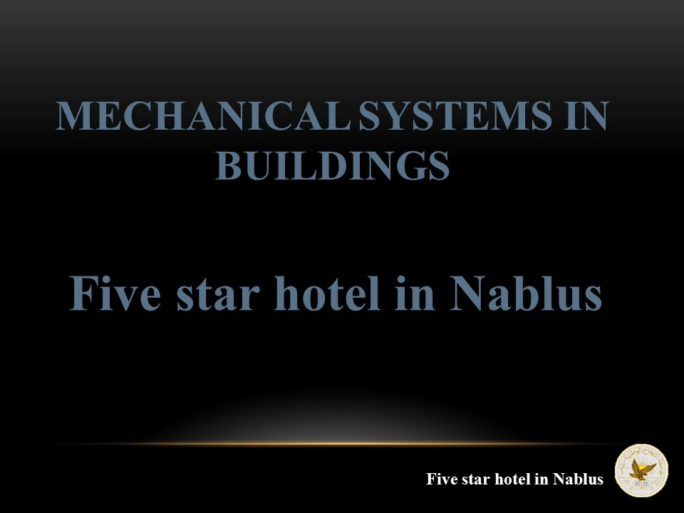Five star hotel in Nablus