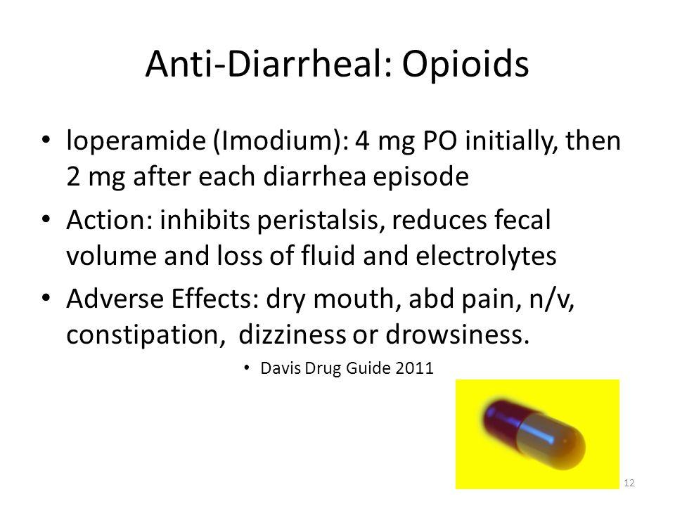 Anti-Diarrheal: Opioids