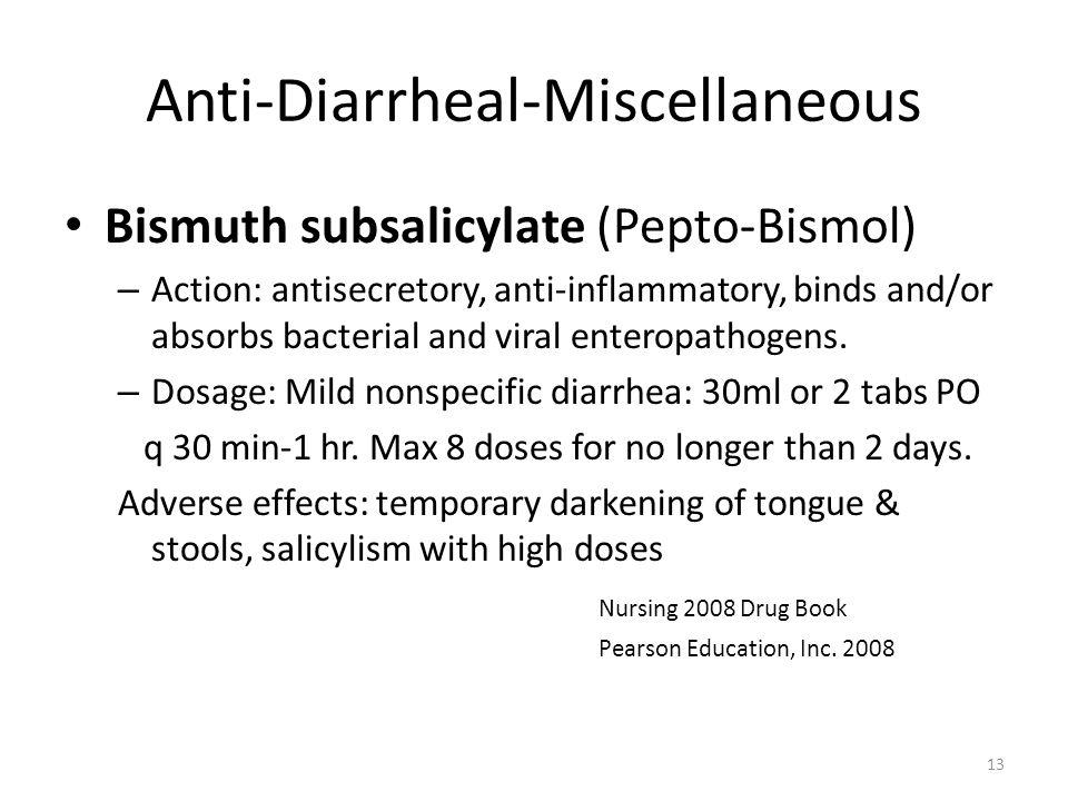 Anti-Diarrheal-Miscellaneous