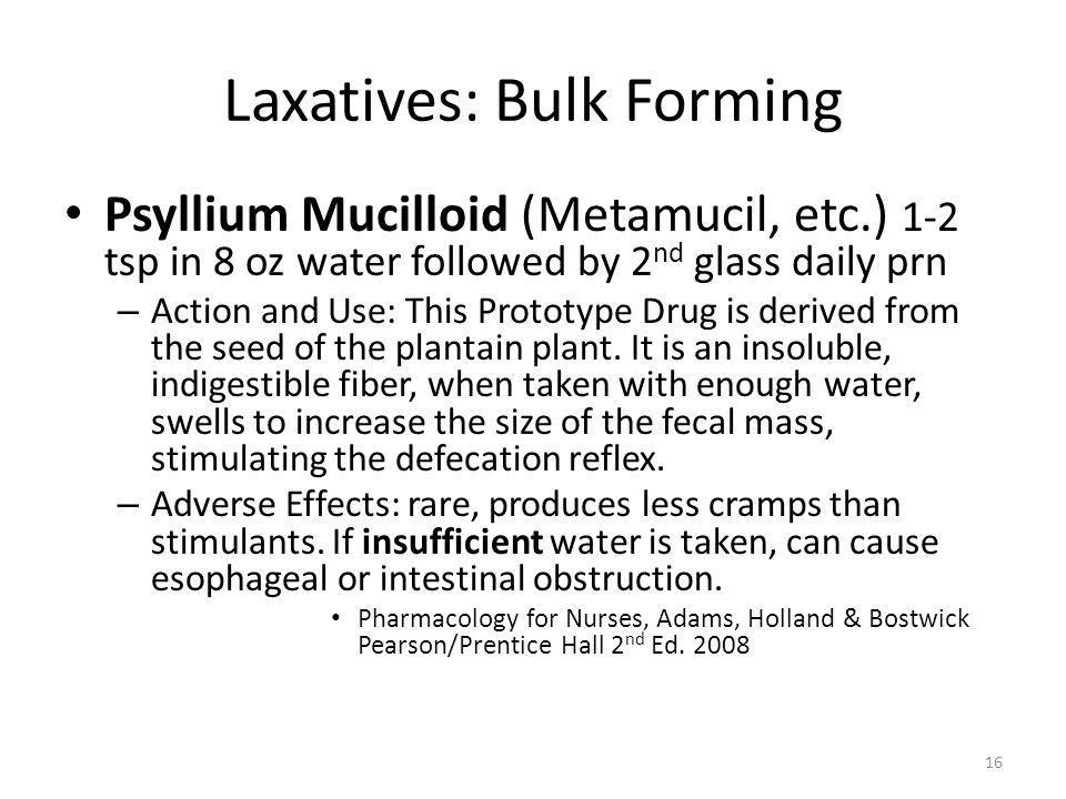 Laxatives: Bulk Forming
