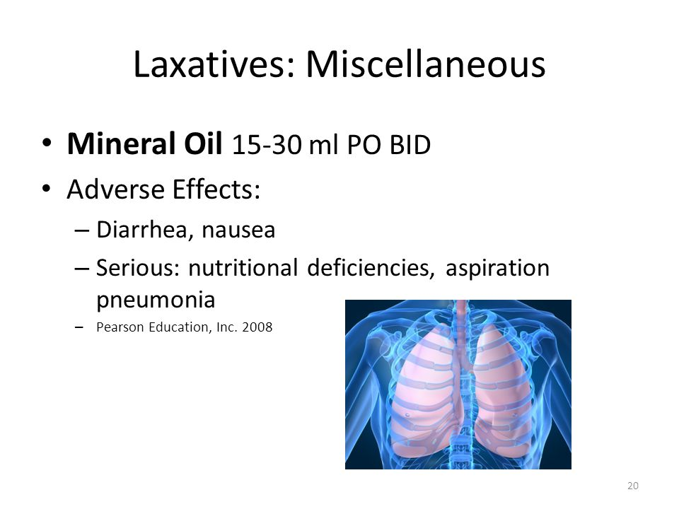 Laxatives: Miscellaneous