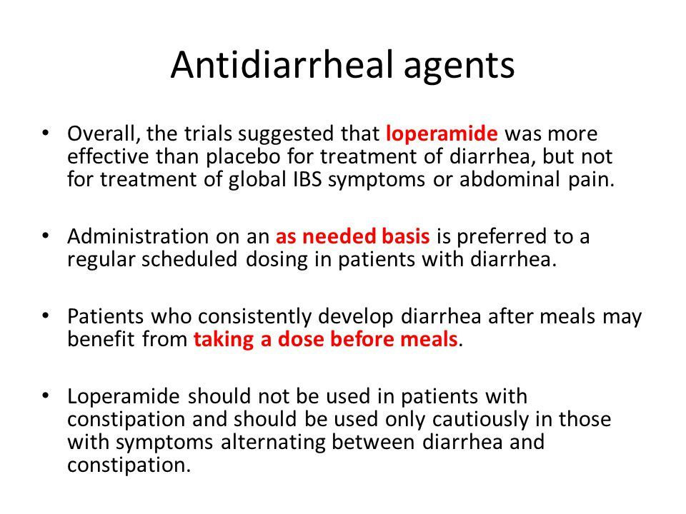 Antidiarrheal agents