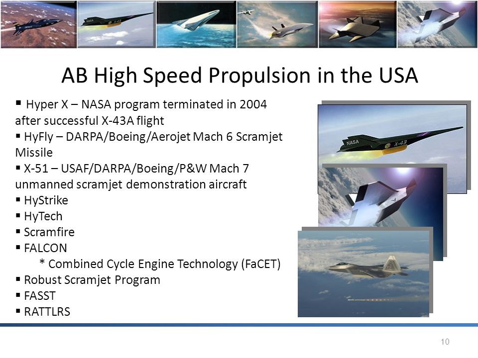 AB High Speed Propulsion in the USA