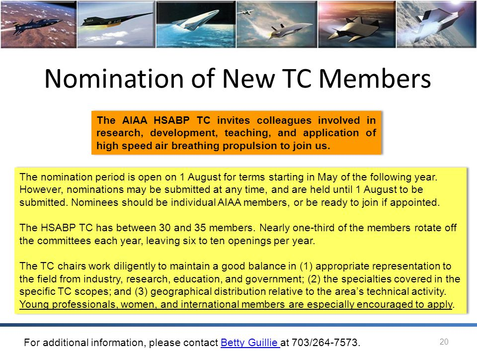 Nomination of New TC Members
