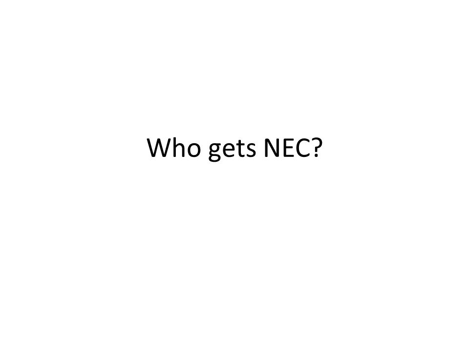 Who gets NEC