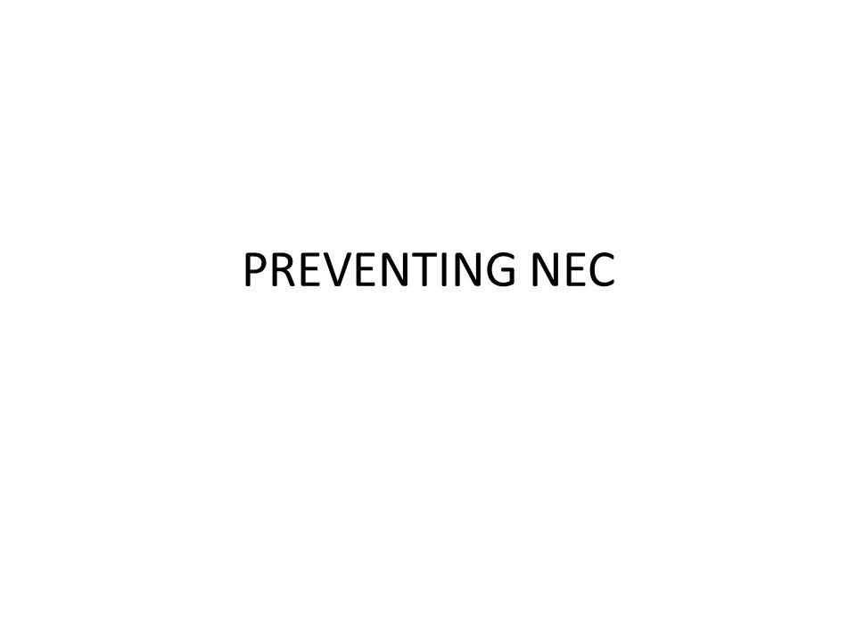 PREVENTING NEC