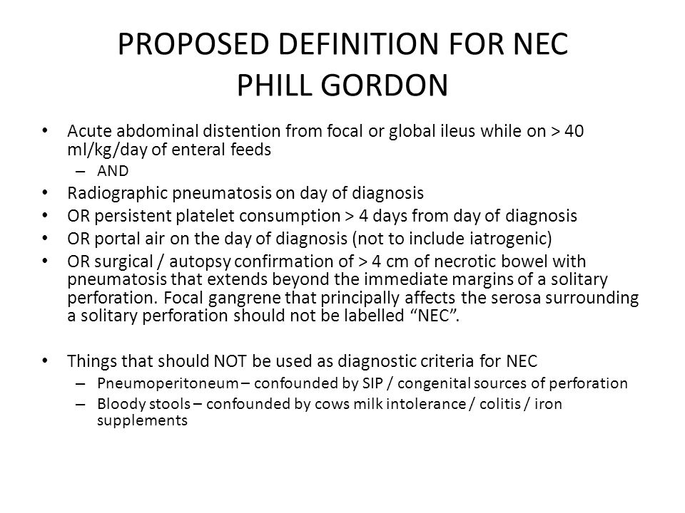 PROPOSED DEFINITION FOR NEC PHILL GORDON