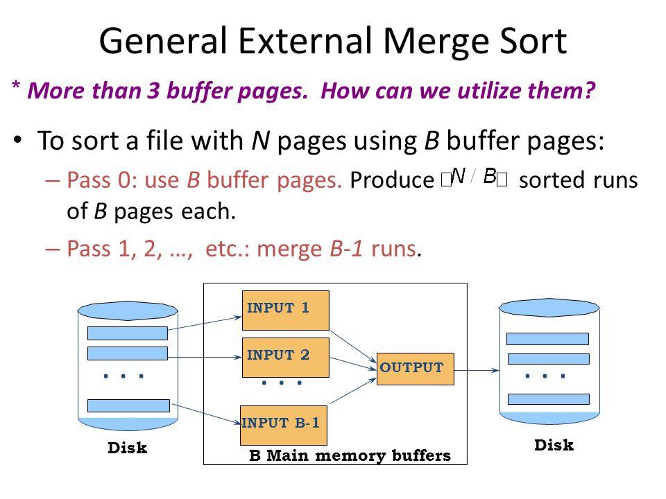 General External Merge Sort