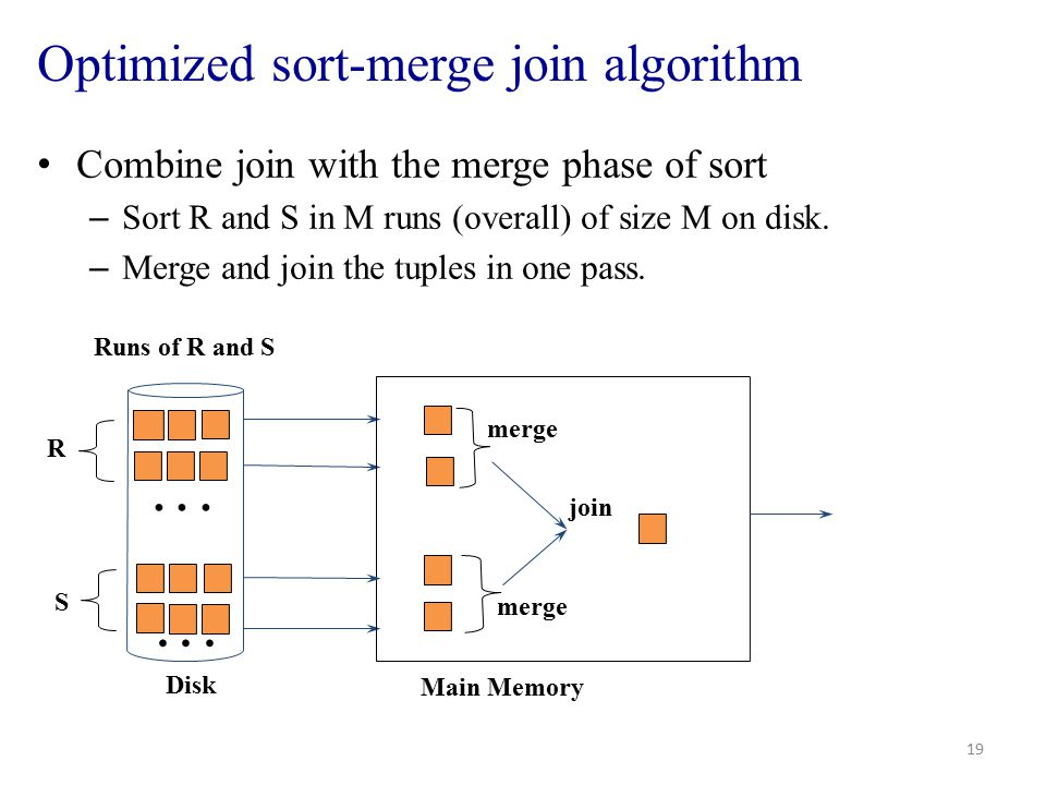 Optimized sort-merge join algorithm