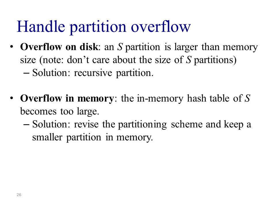 Handle partition overflow