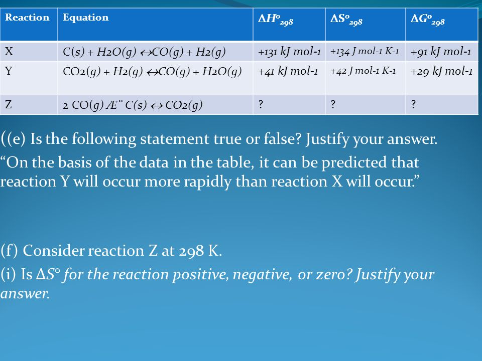 ((e) Is the following statement true or false Justify your answer.
