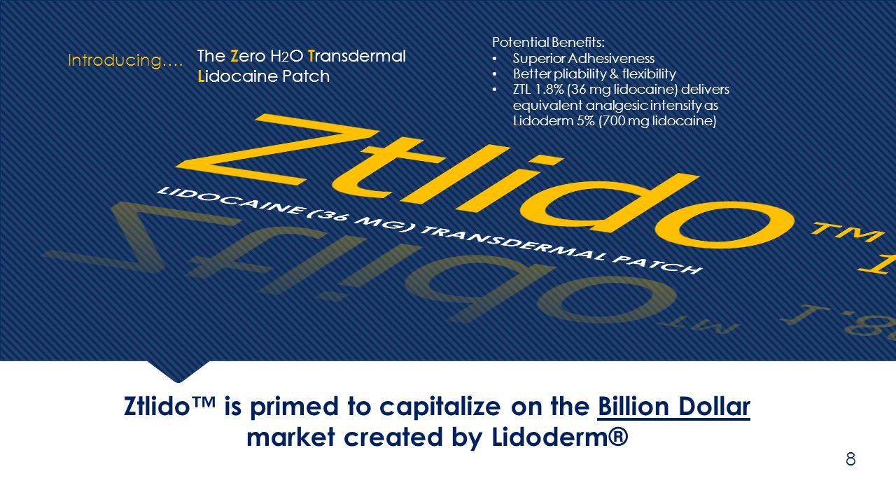 Ztlido™ 1.8% LIDOCAINE (36 MG) TRANSDERMAL PATCH