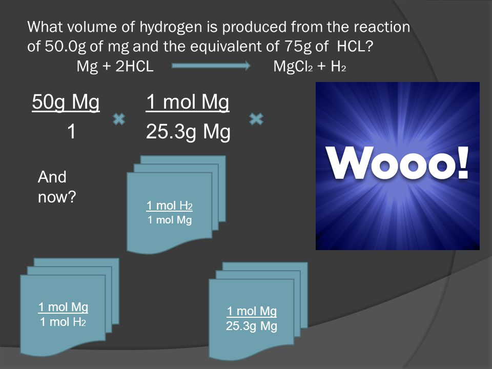 What volume of hydrogen is produced from the reaction of 50