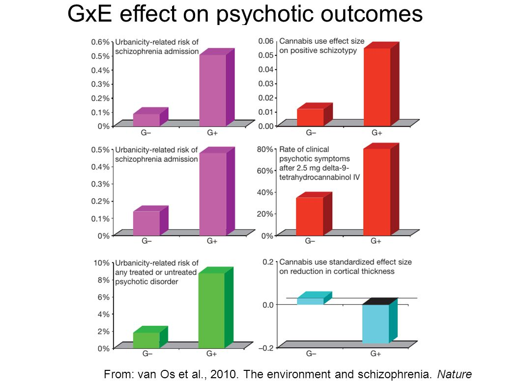GxE effect on psychotic outcomes