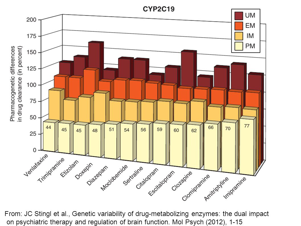 From: JC Stingl et al., Genetic variability of drug-metabolizing enzymes: the dual impact