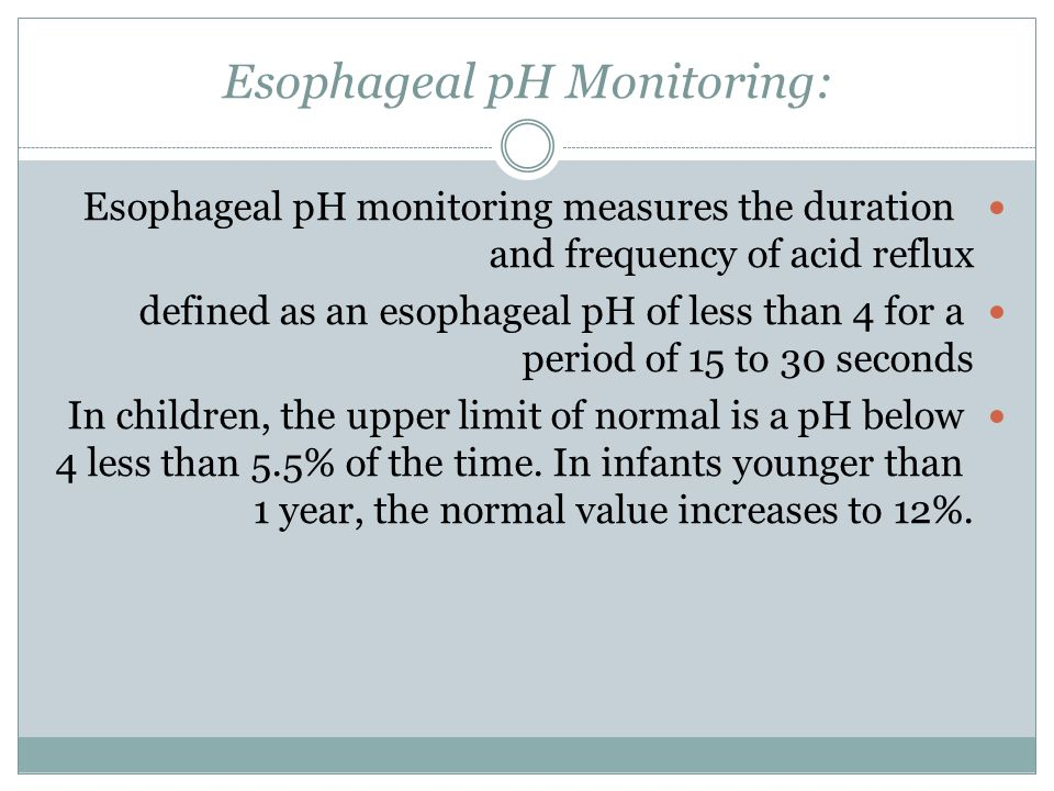 Esophageal pH Monitoring: