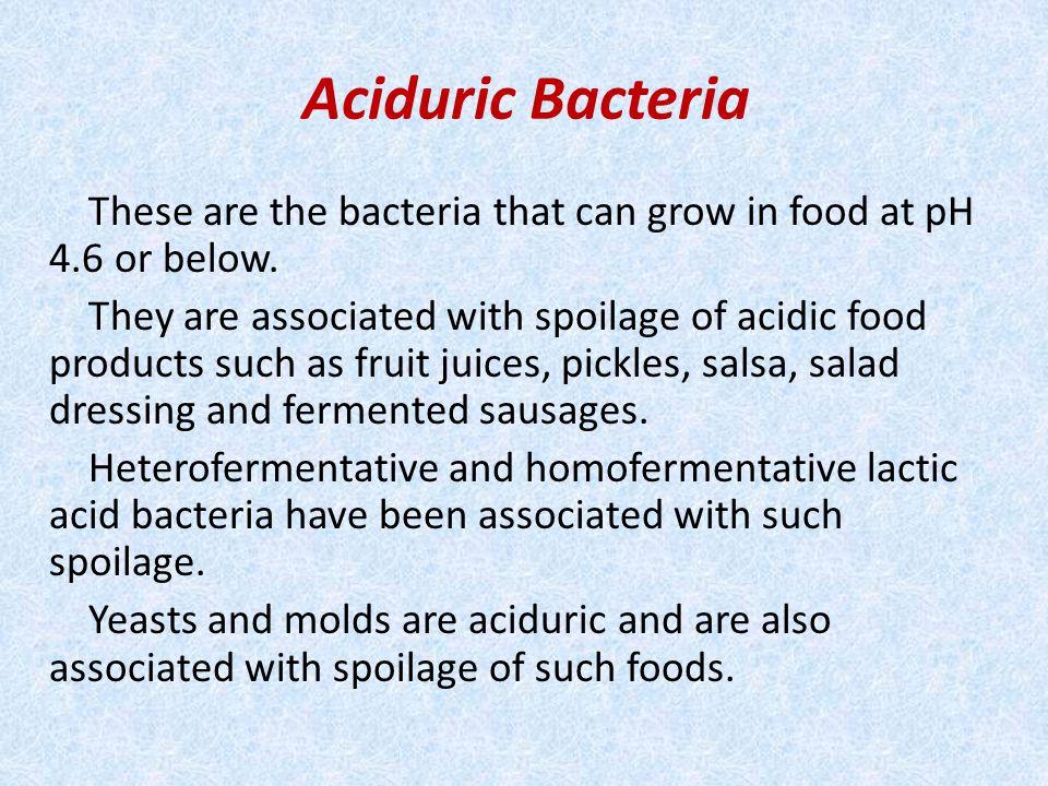 Aciduric Bacteria