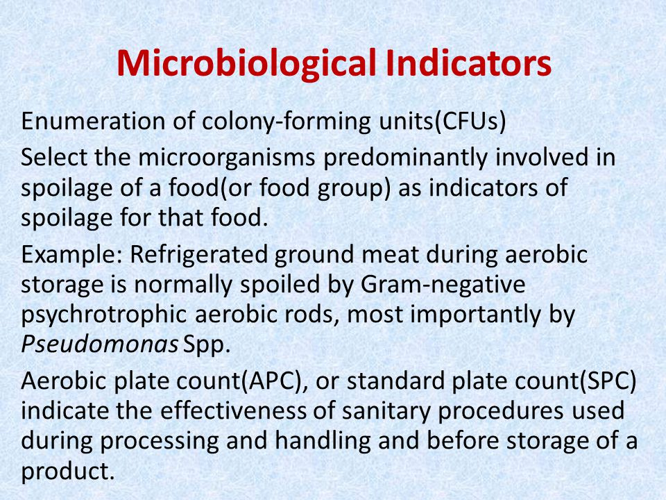 Microbiological Indicators
