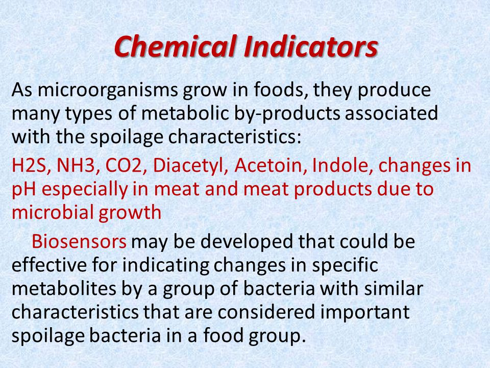 Chemical Indicators