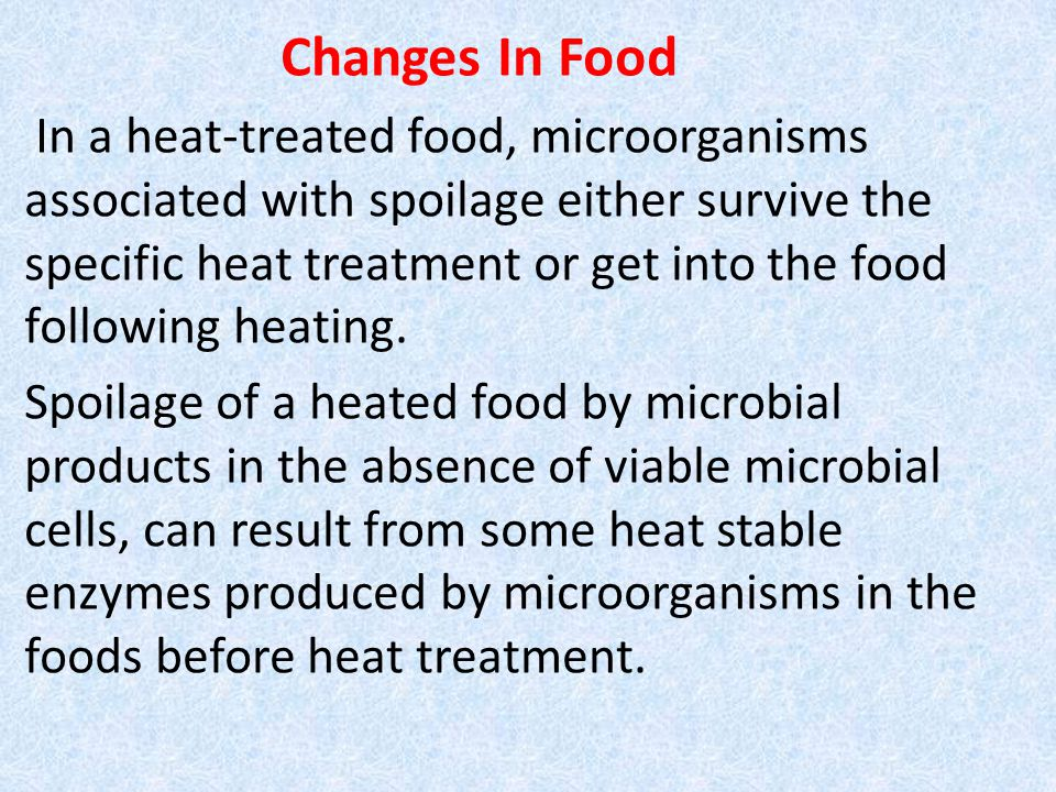 Changes In Food