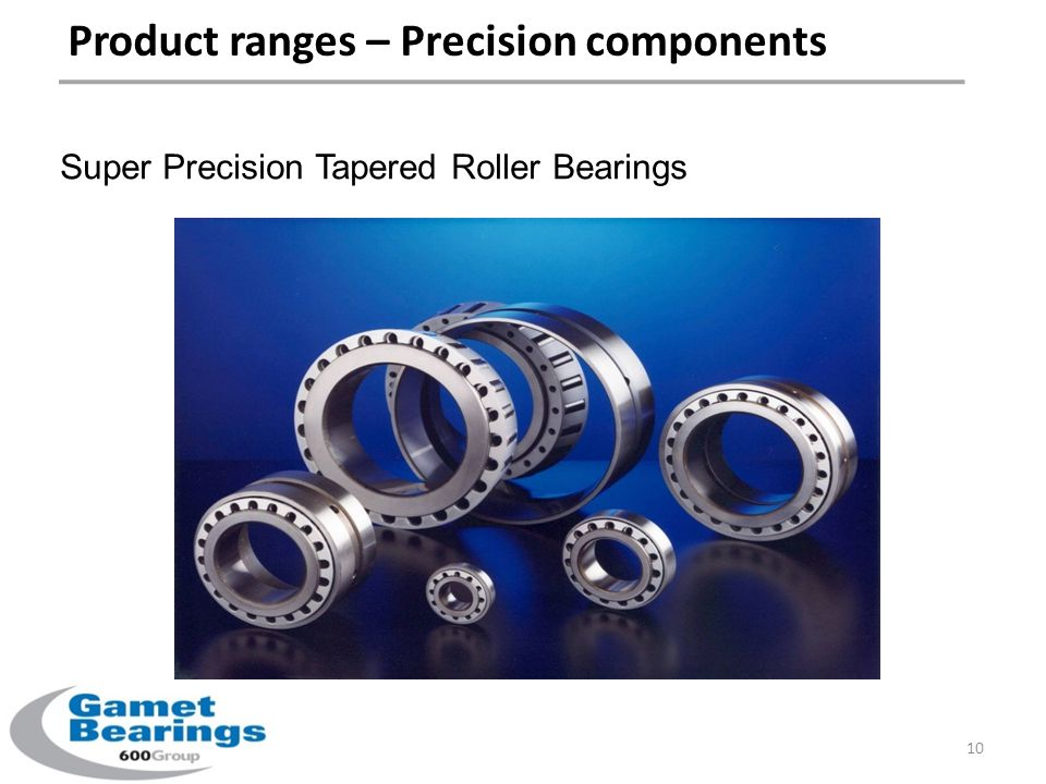 Product ranges – Precision components