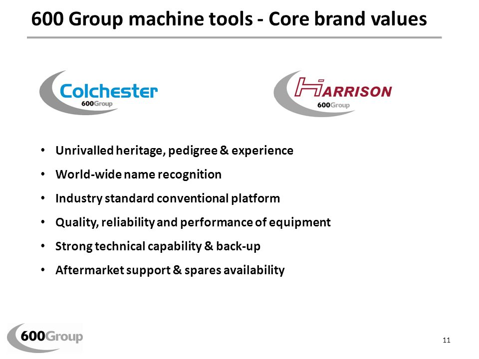 Machine Tools – key brand values