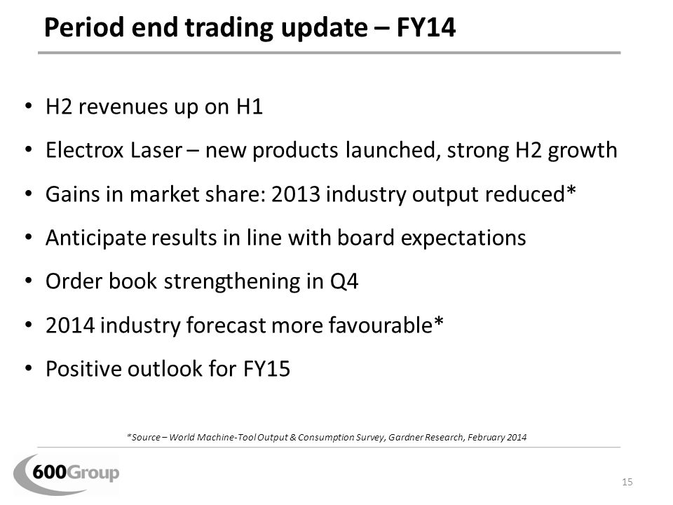 Period end trading update – FY14