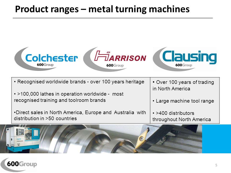 Product ranges – metal turning machines
