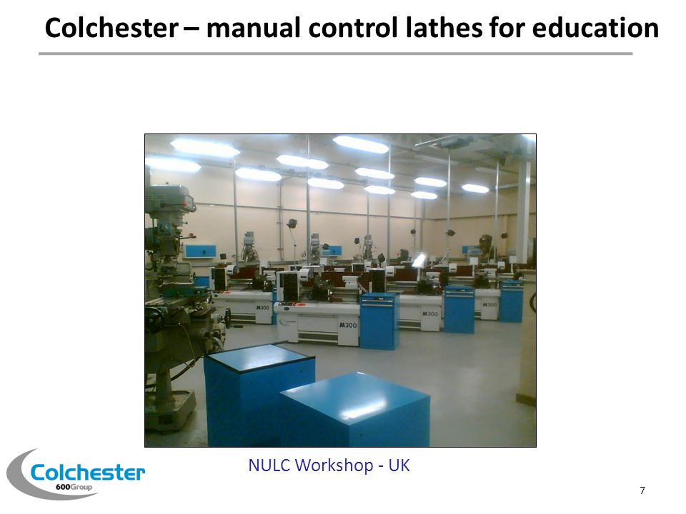 Colchester – manual control lathes for education