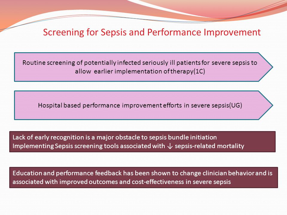 Screening for Sepsis and Performance Improvement
