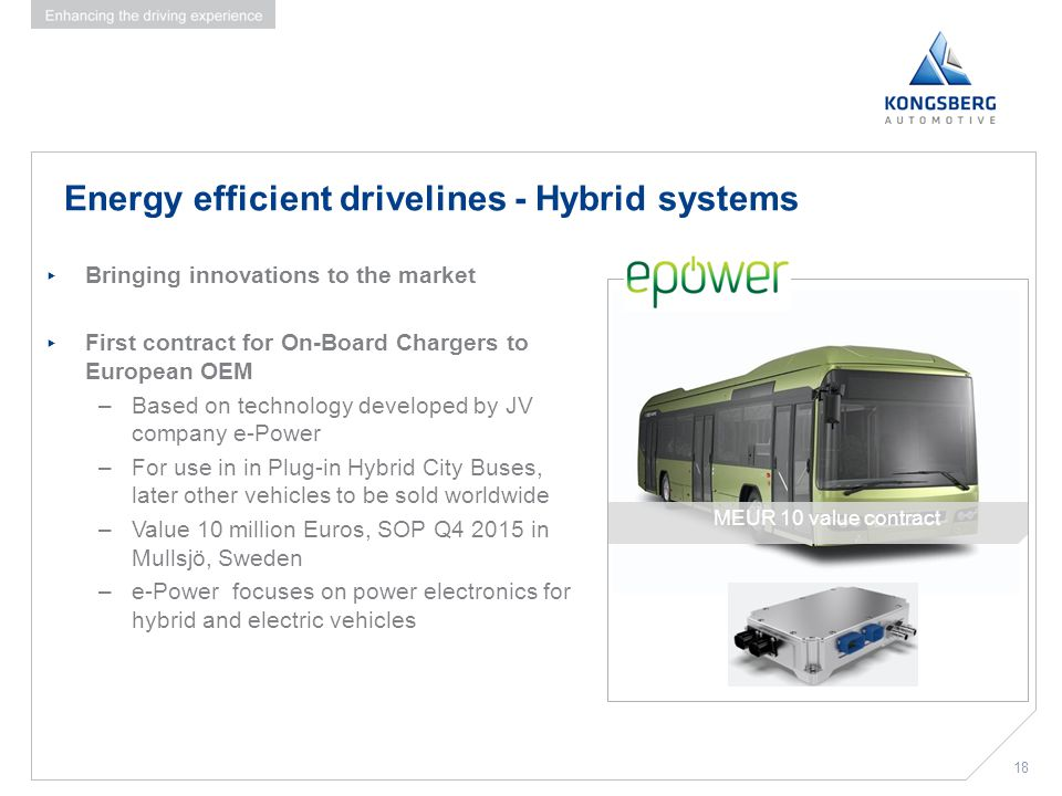 Energy efficient drivelines - Hybrid systems