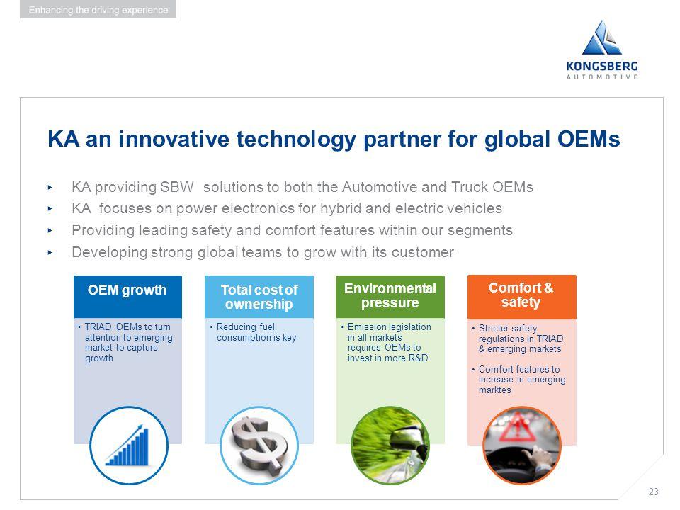 KA an innovative technology partner for global OEMs
