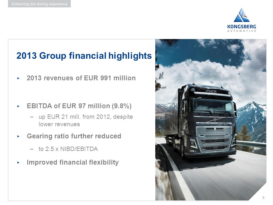 2013 Group financial highlights