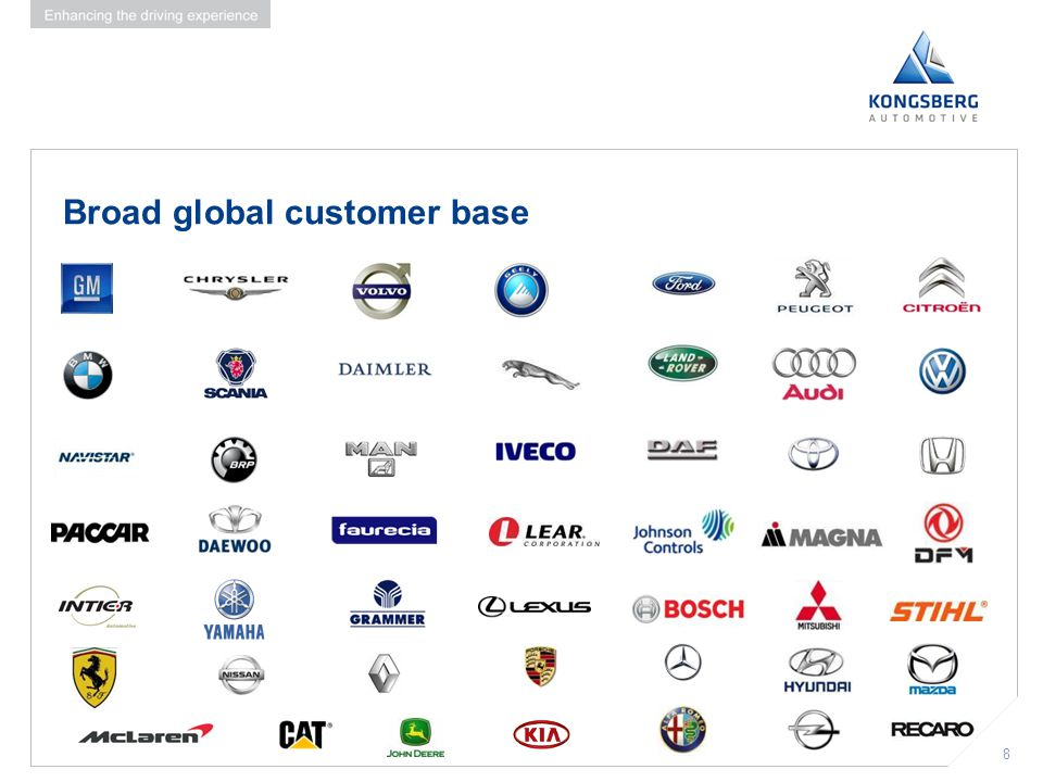 Broad global customer base