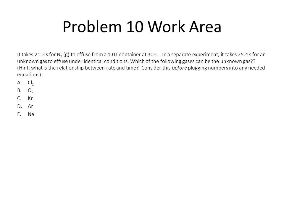Problem 10 Work Area