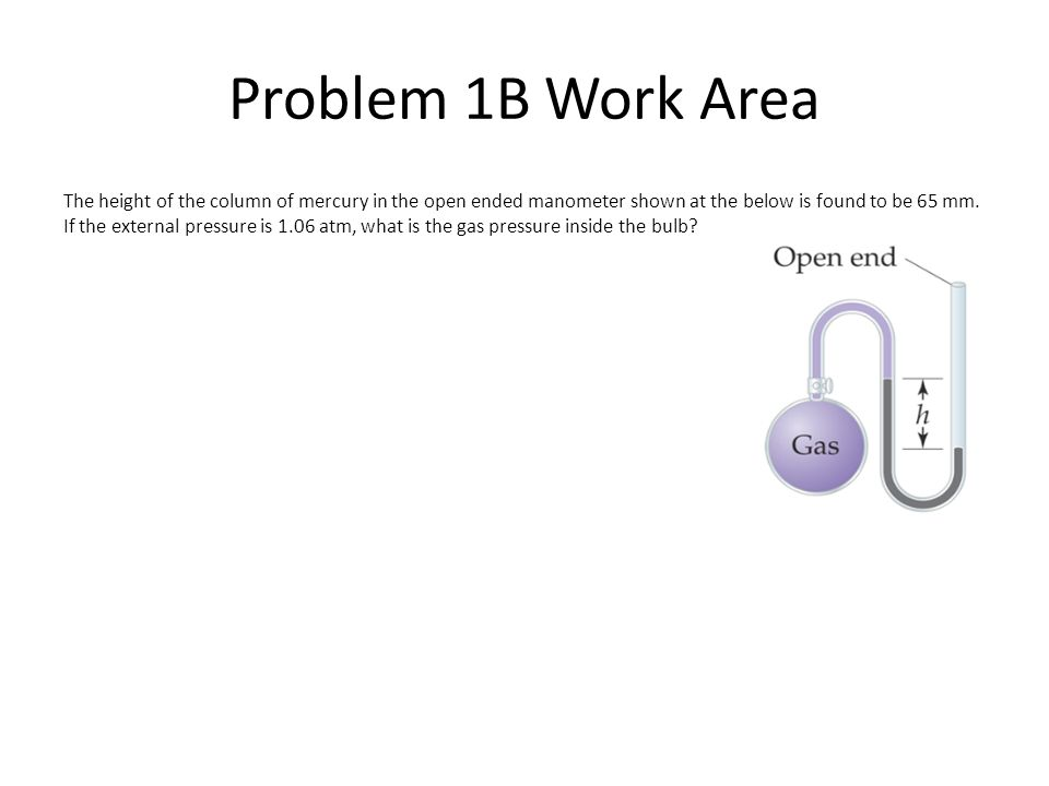 Problem 1B Work Area