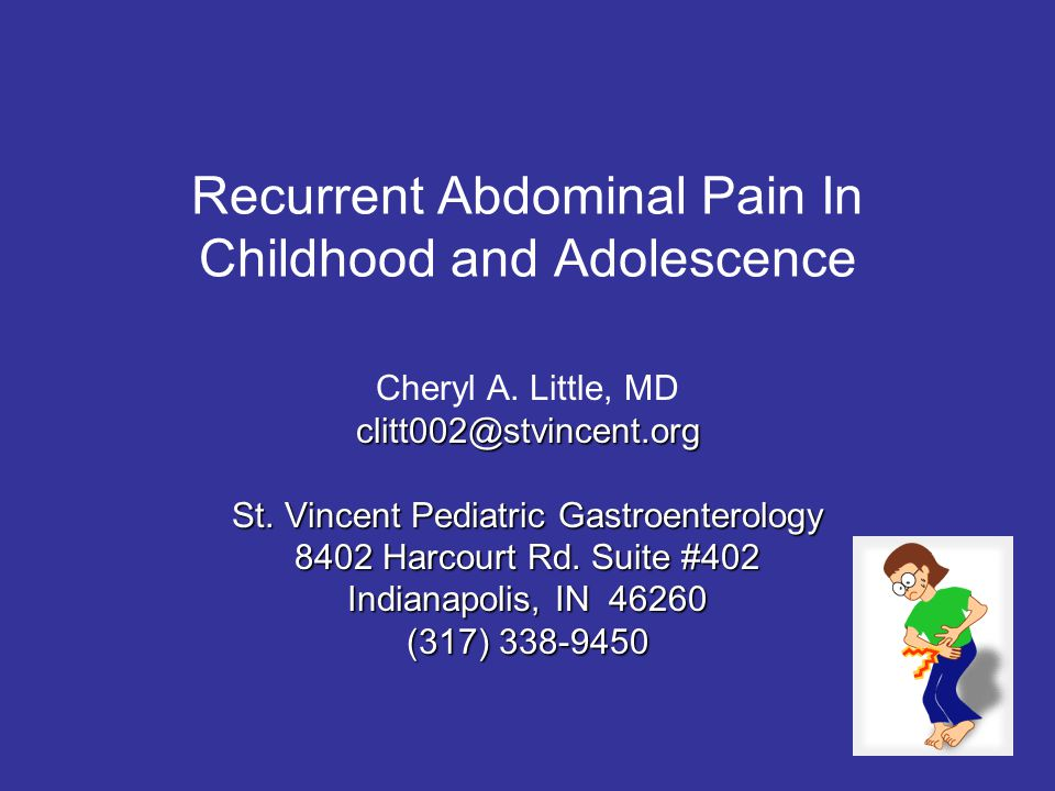 Recurrent Abdominal Pain In Childhood and Adolescence
