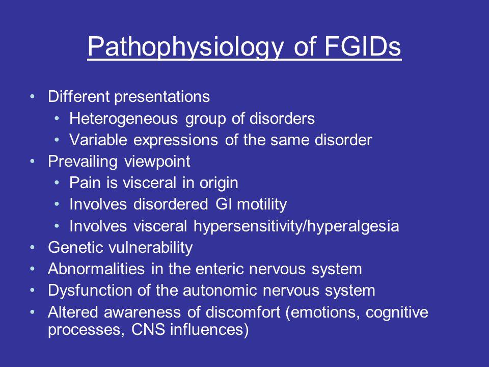 Pathophysiology of FGIDs