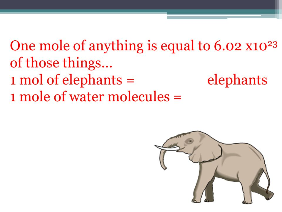 One mole of anything is equal to 6.02 x1023 of those things...