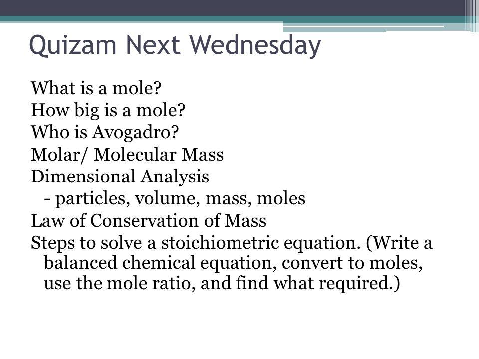 Quizam Next Wednesday