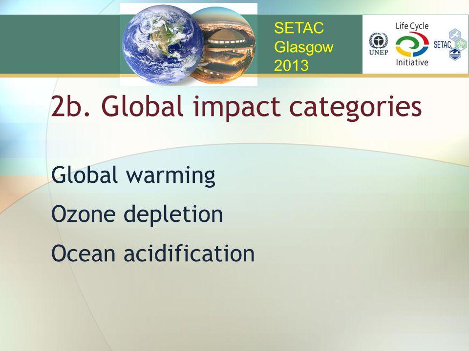 2b. Global impact categories