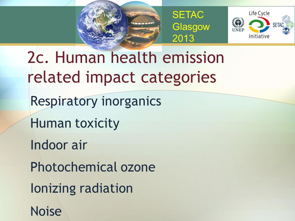 2c. Human health emission related impact categories