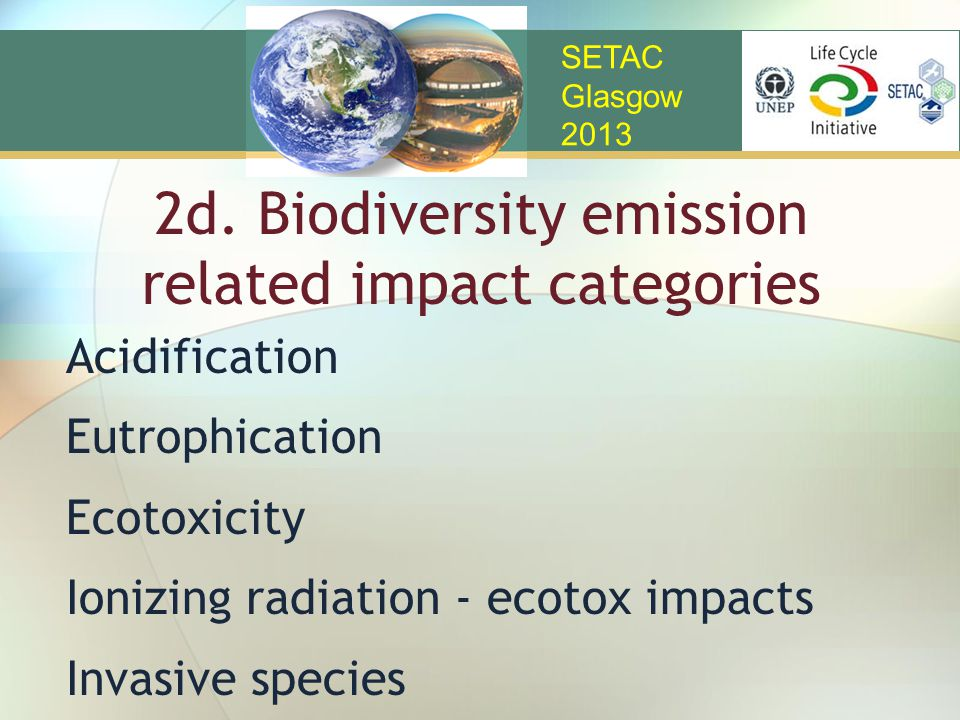 2d. Biodiversity emission related impact categories