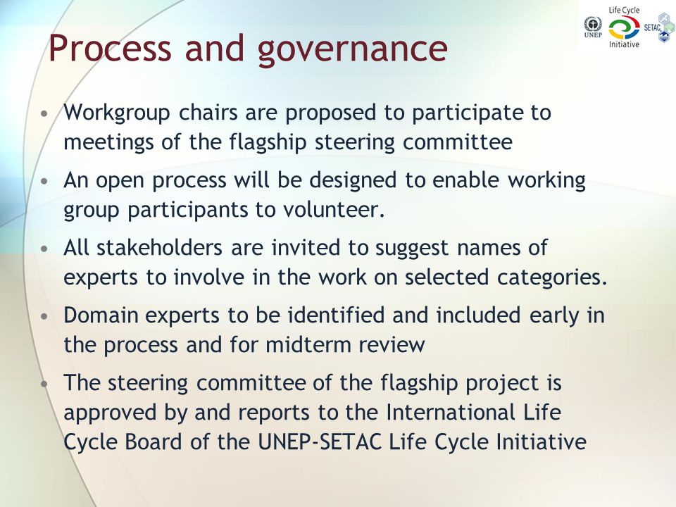 Process and governance
