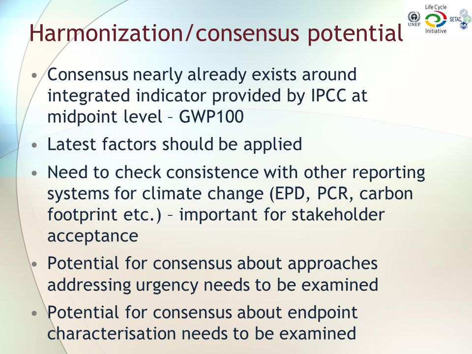 Harmonization/consensus potential
